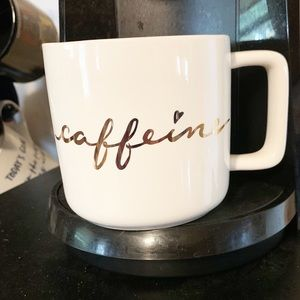 "[Target Home] ""Caffeine"" Gold Script Mug"